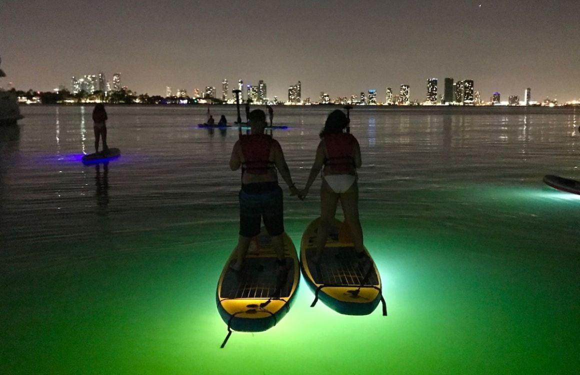 Glow in the Dark Paddleboarding Miami Beach