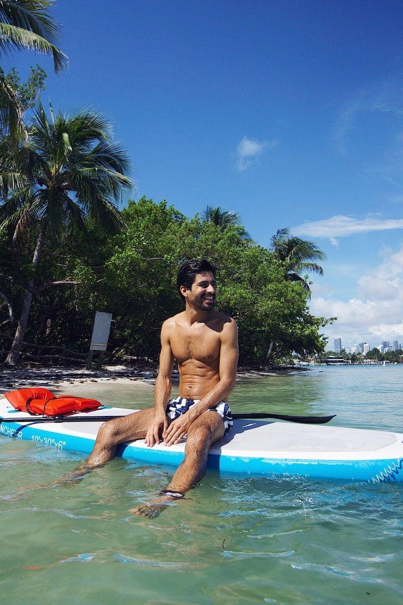 Kayak or Paddleboard to Paradise Island Miami Beach