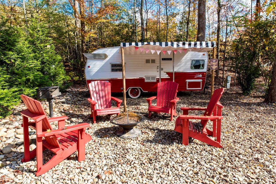 The Ruby Slipper Retro Camper Gatlinburg