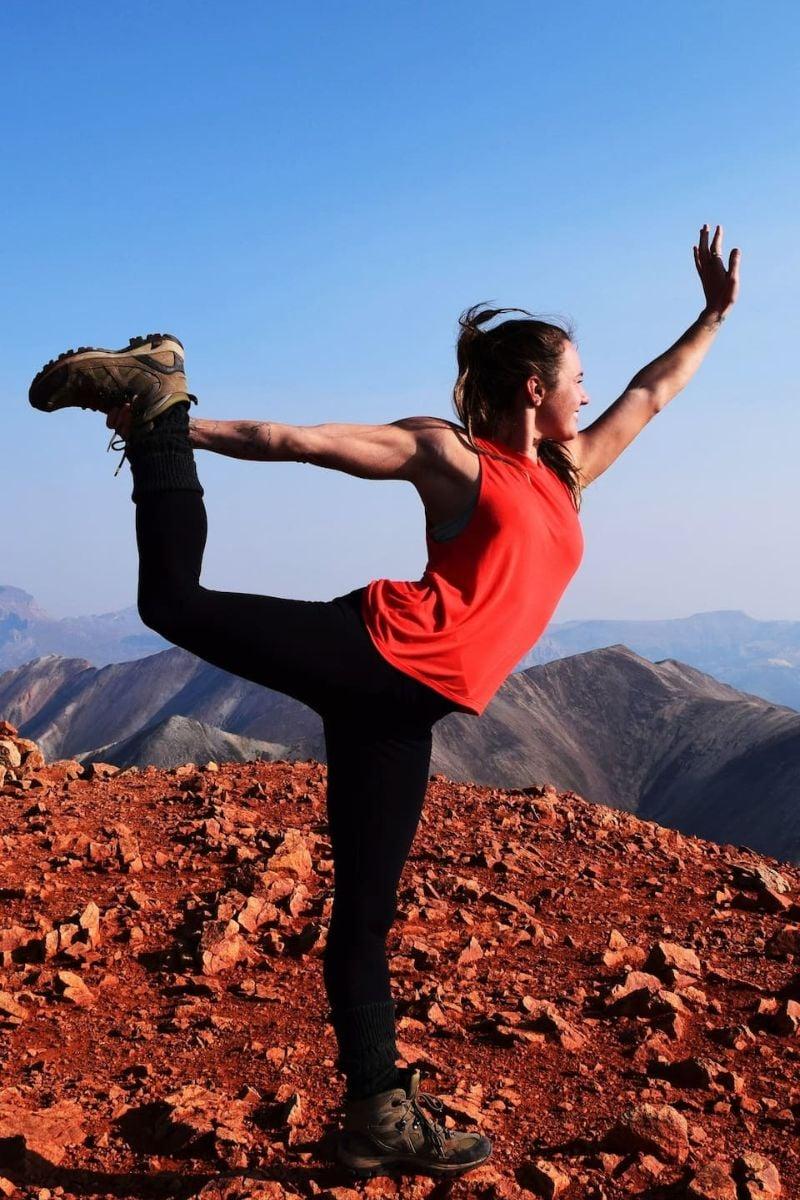 Yoga in Red Rock Canyon Colorado Springs