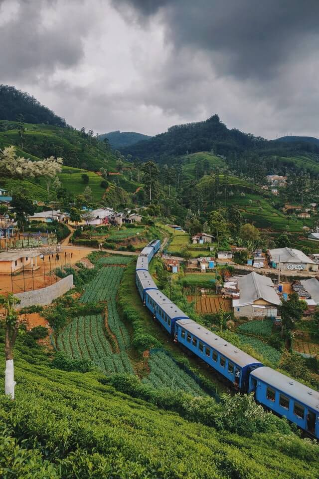 The famous Kandy to Ella train in Sri Lanka's hill country