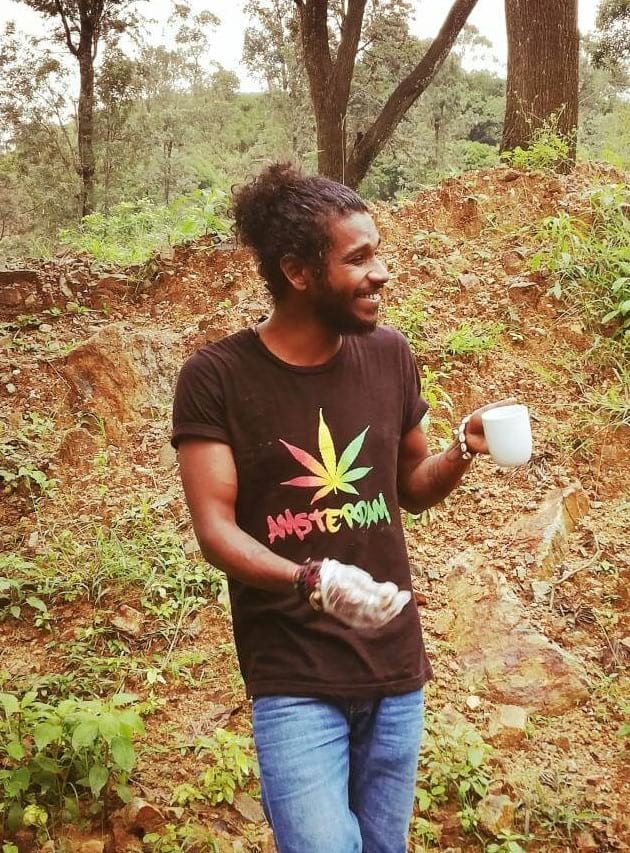 A friend I made at a hippie place in Sri Lanka