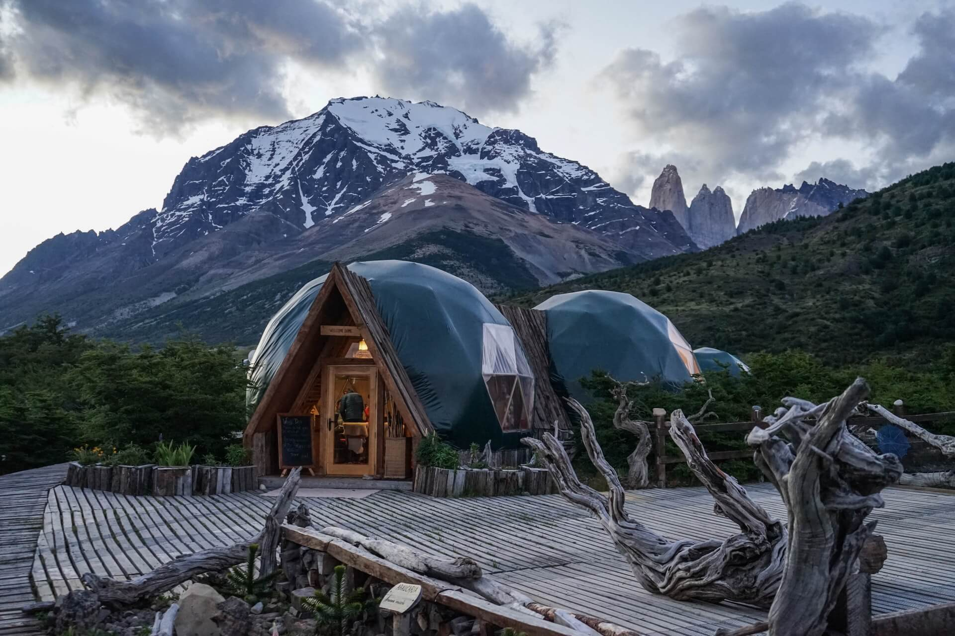 An outdoor accommodation booked through Booking.com while looking for cheap hotels