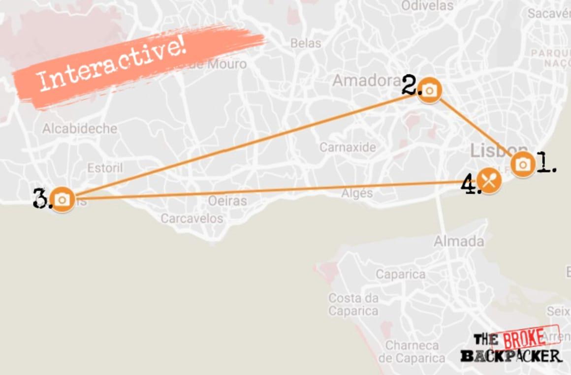 Day 3 Lisbon Itinerary Map