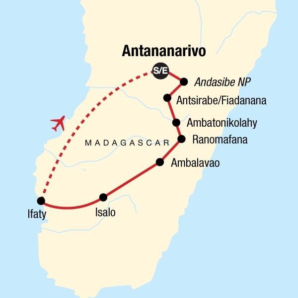 Highlights of Madagascar Plus map