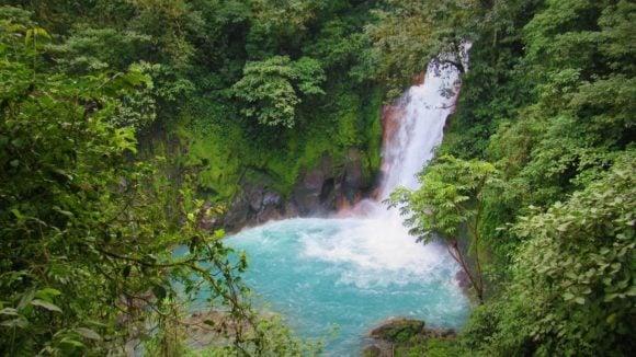 Rio Celeste Waterfall Hike in Tenorio Volcano National Park