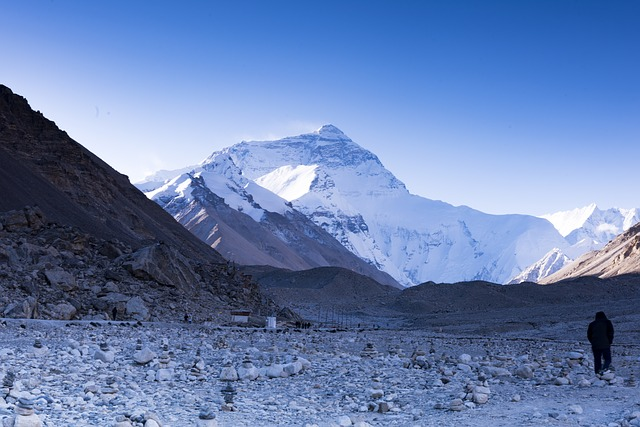View of Mount Everest from the Base Camp trek