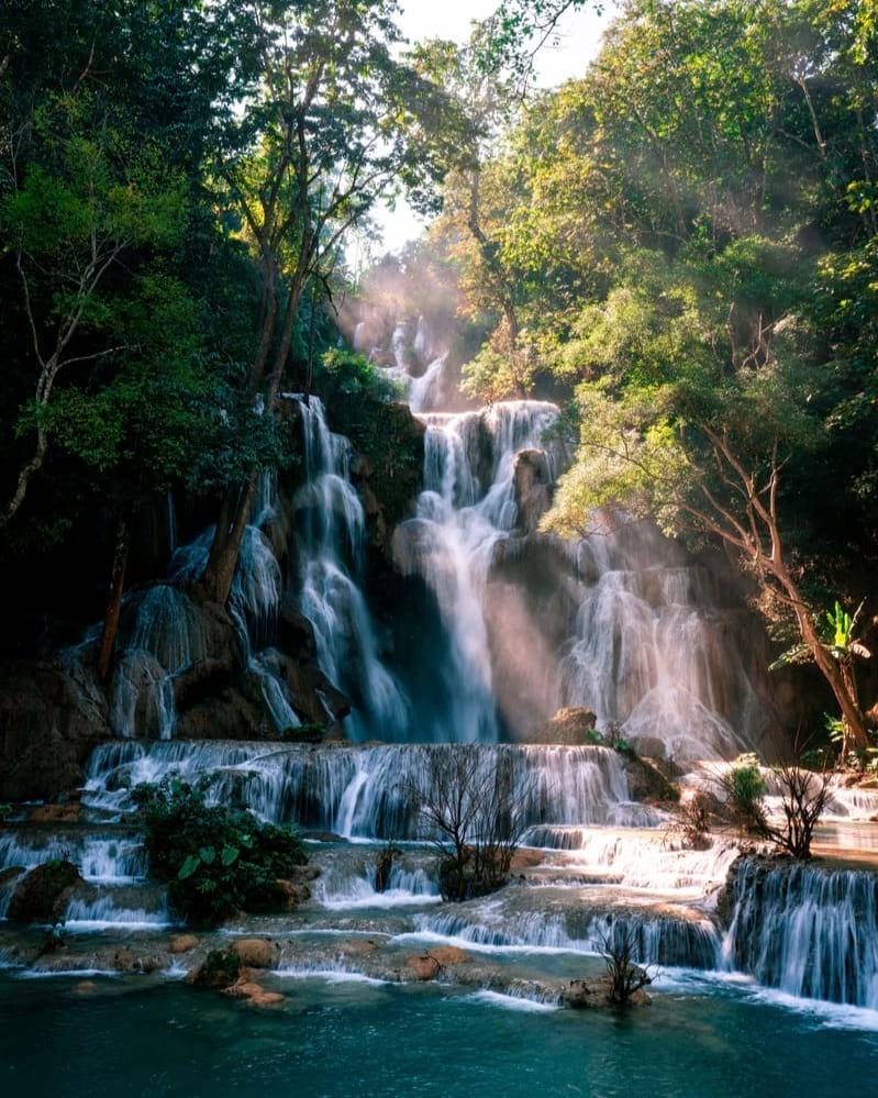 luang prabang waterfalls backpacking laos
