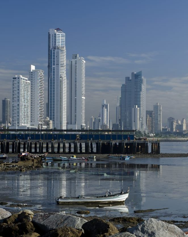 panama city bay and towers