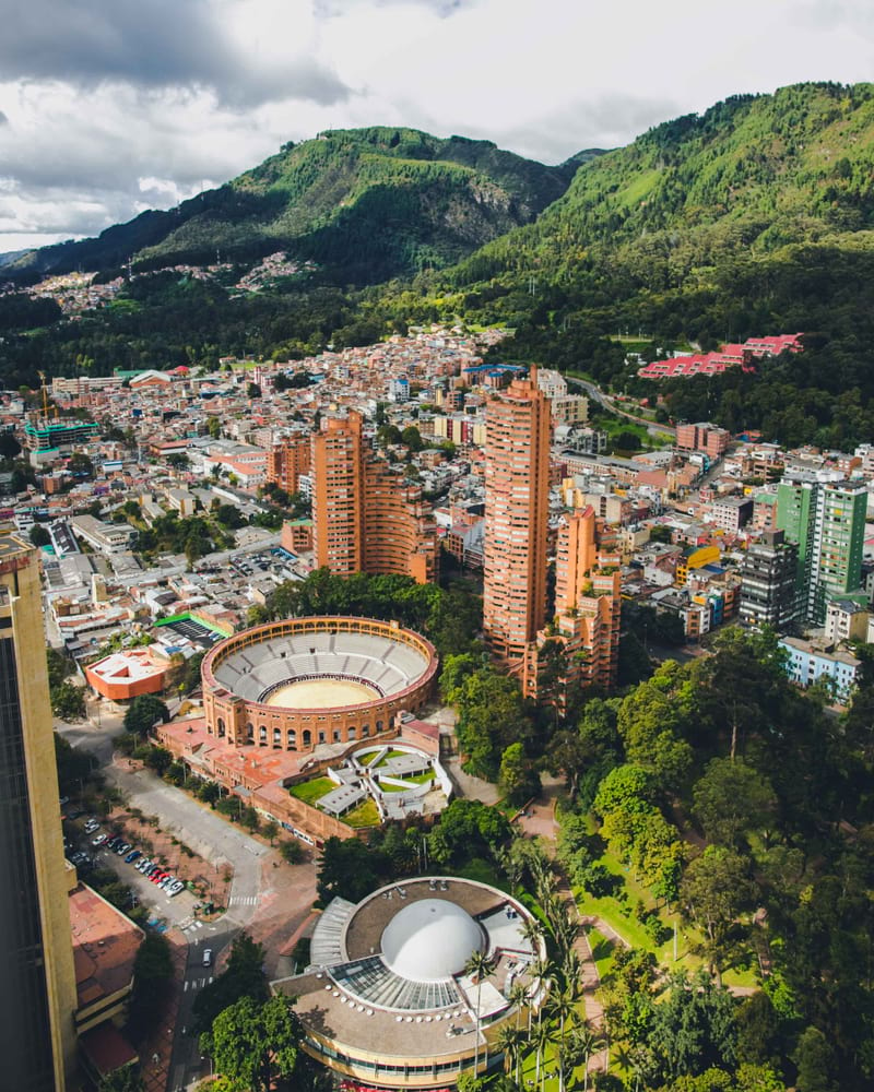 aerial view of bogota capital of colombia