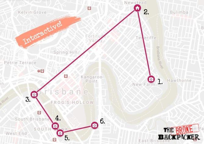 Day 1 Map Brisbane