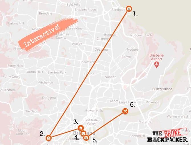 Day 2 Map Brisbane