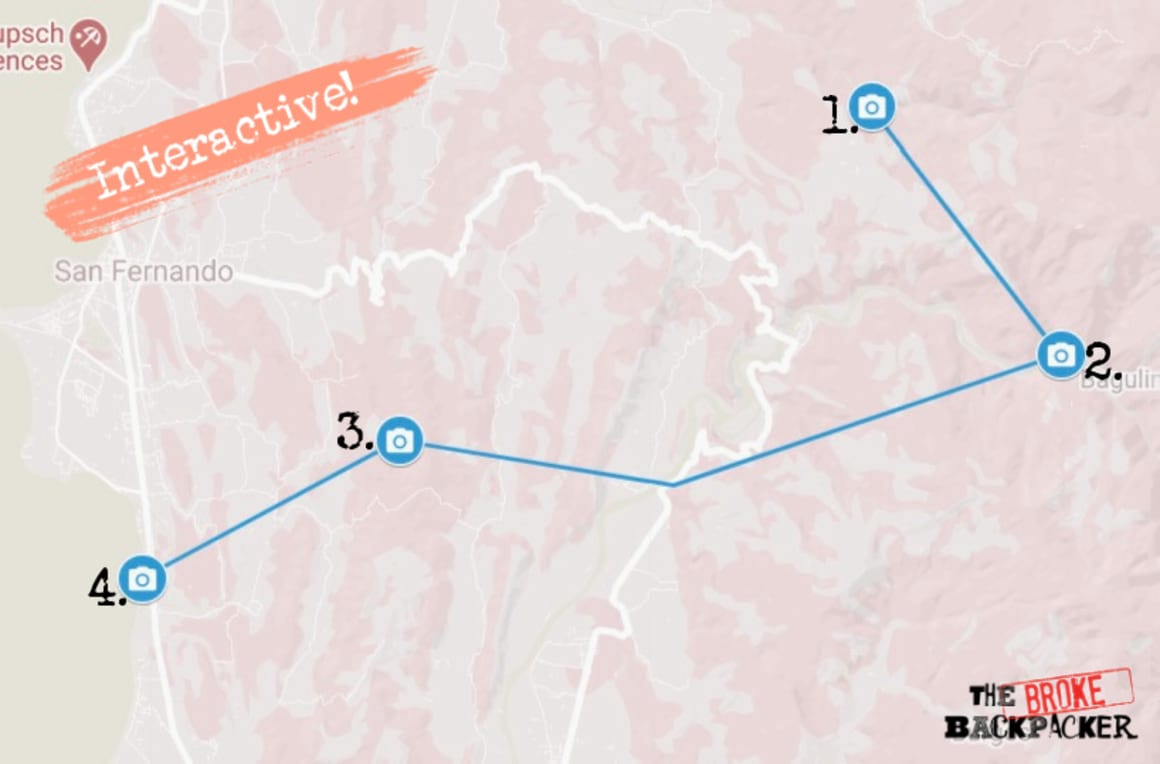 La Union Day 2 Itinerary Map