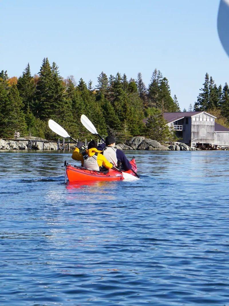 Private Island Kayak Sauna Tour Halifax