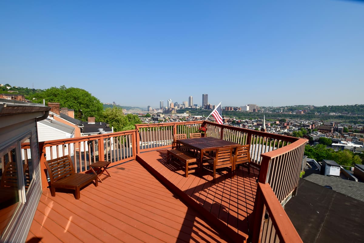 Rooftop tranquillity with garage, Pittsburgh
