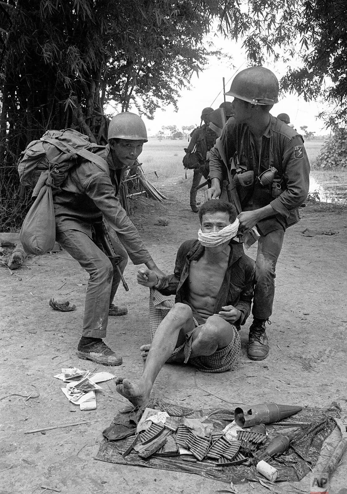 A historical photo of the Vietnam War period taken in Cambodia