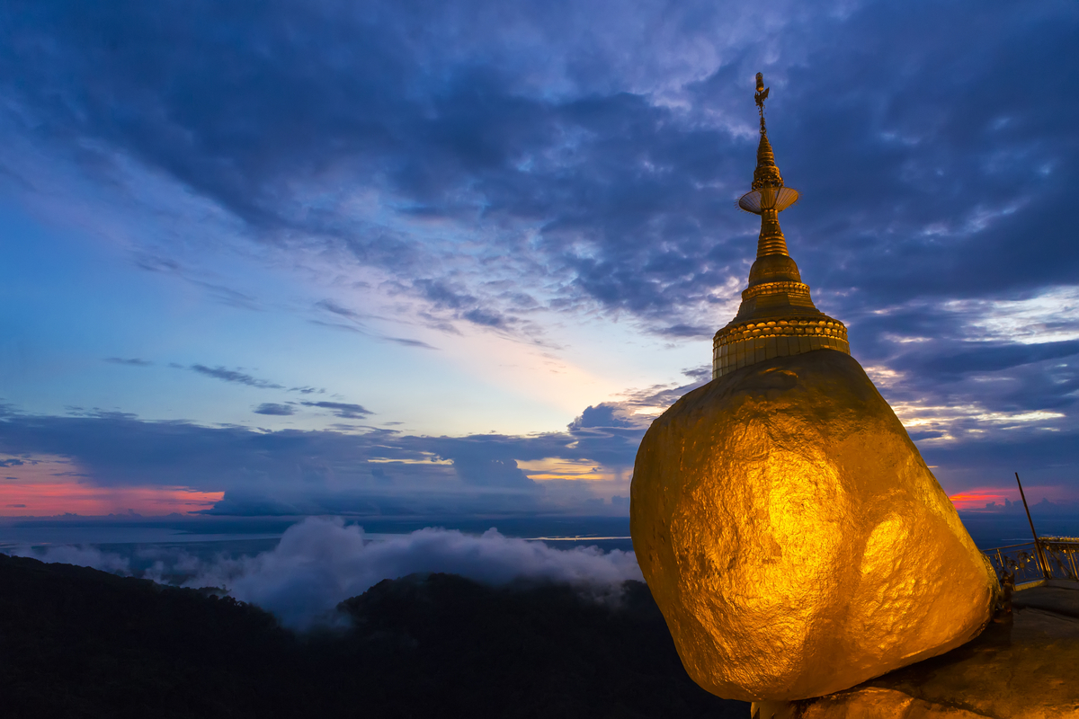 Kyaikto Pagoda - famous cultural place to visit in Myanmar
