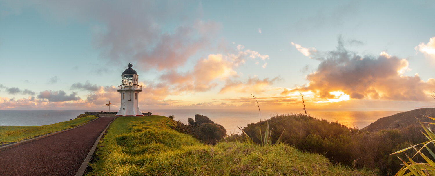 Sunrise at Cape Reinga - top place to visit in New Zealand of Maori significance
