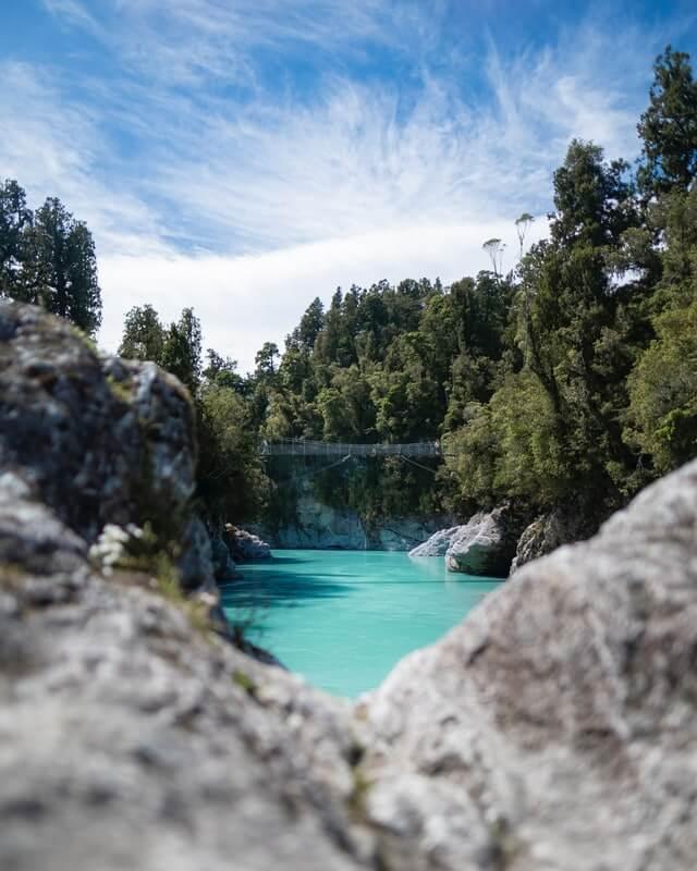 A very blue Hokitika Gorge - a beautiful place on New Zealand's South Island