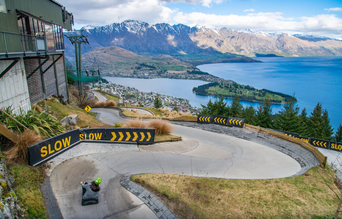 The Skyline Luge track - awesome activitiy for tourists in Queenstown