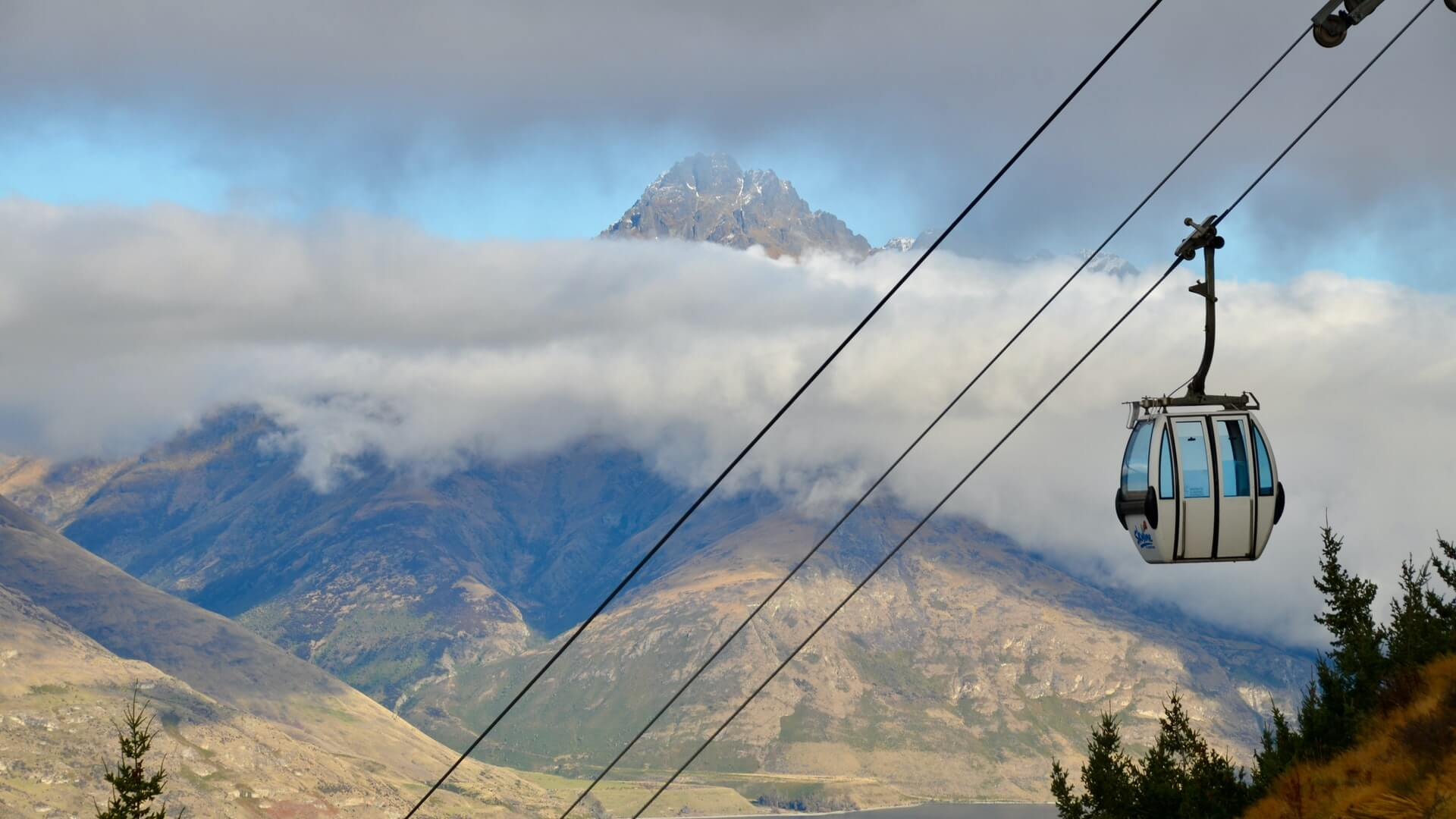 The Skyline gondola en route to the luge track in Queenstown