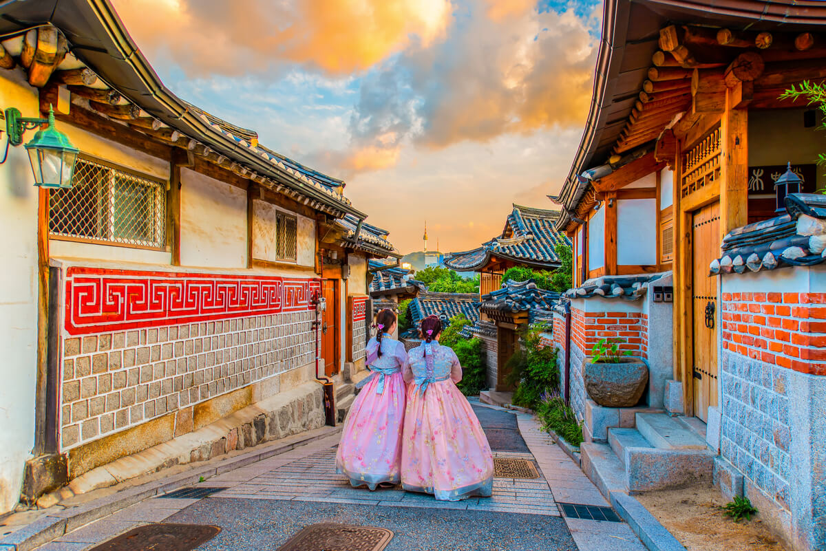 Bukchon Hanok Village in Seoul - popular place to visit in South Korea  for tourists