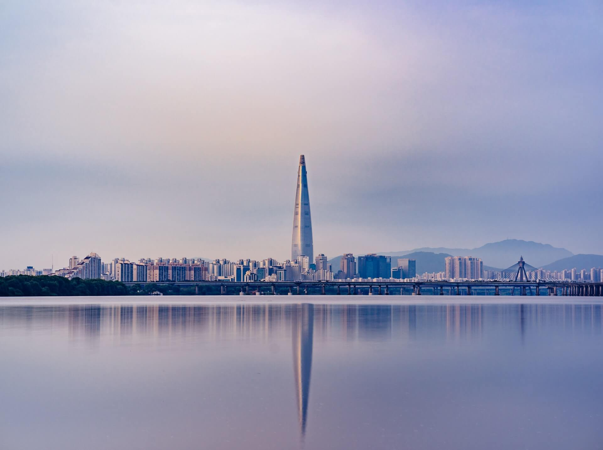 The city skyline of Seoul - major tourist place for working backpackers in South Korea