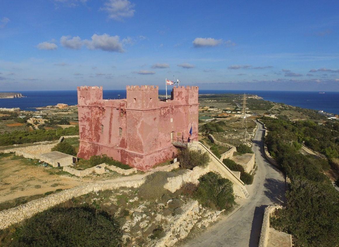 Marfa Red Tower, Malta