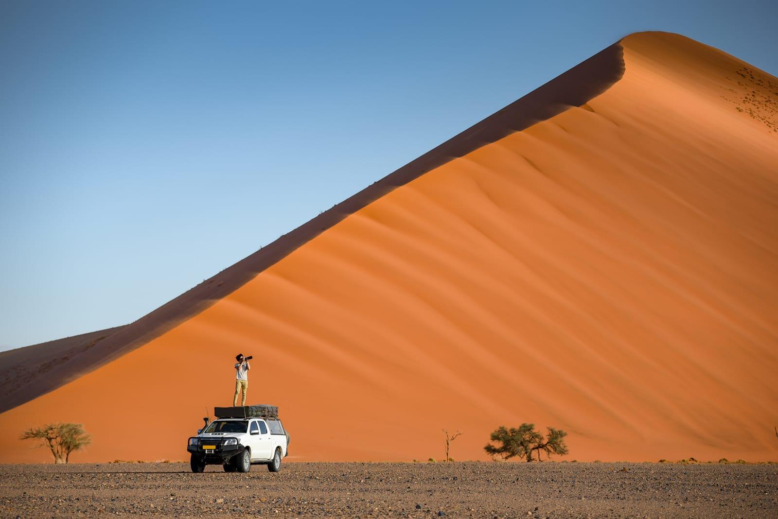 exploring namibia with a renta car namib desert