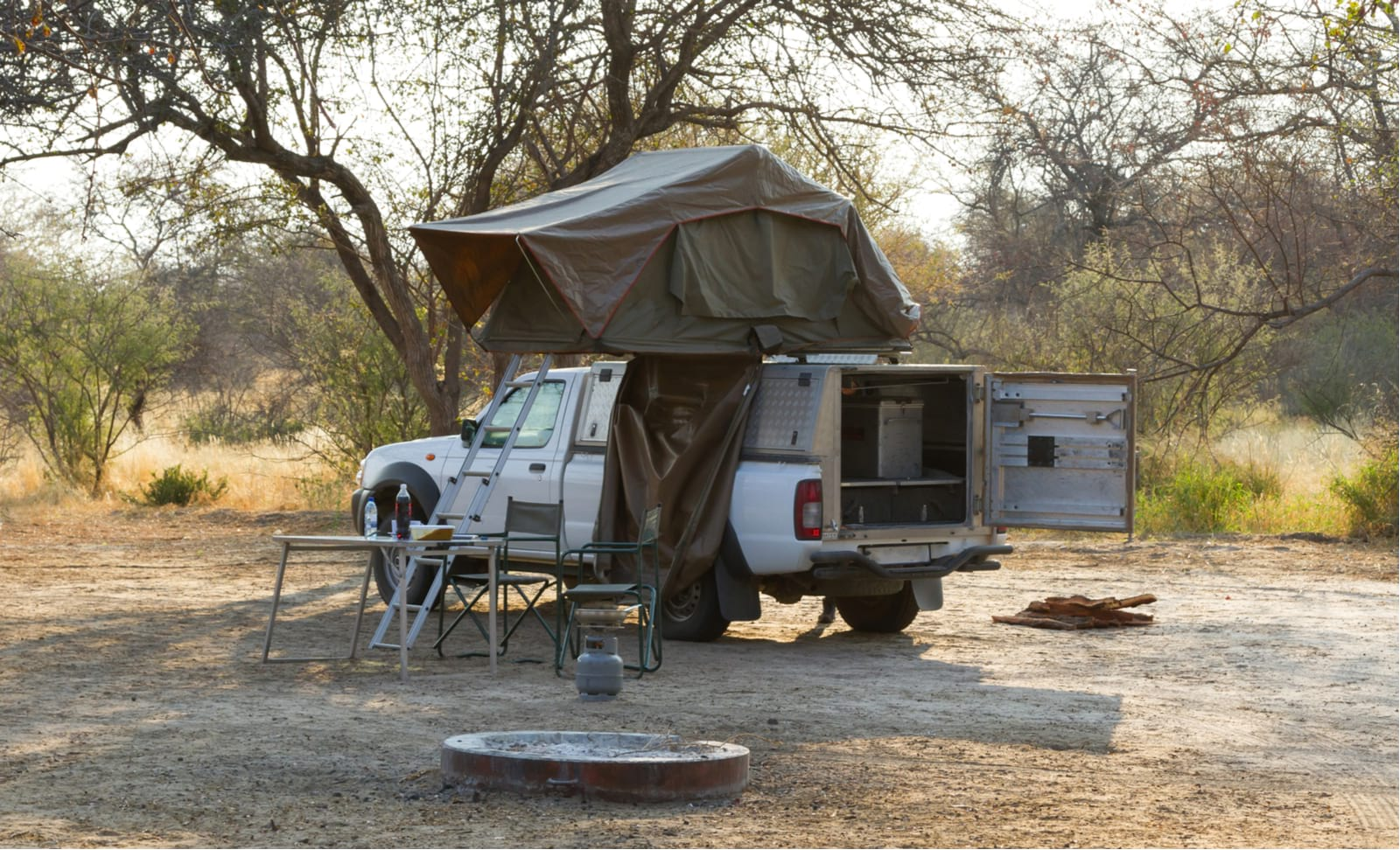 4x4 rooftop tent car rental in namibia