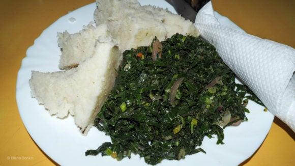 Ugali and sukuma