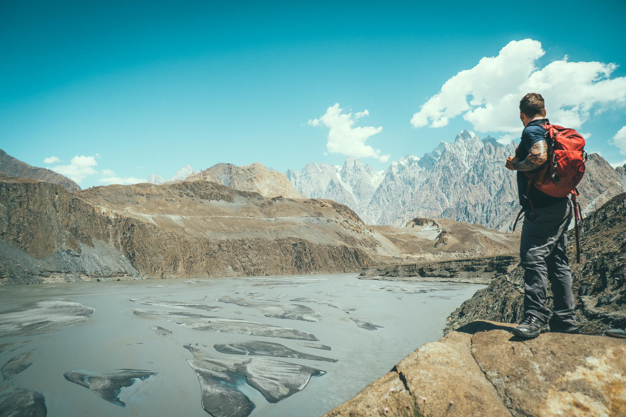 Will Hatton hiking in the Karakoram mountains of Pakistan