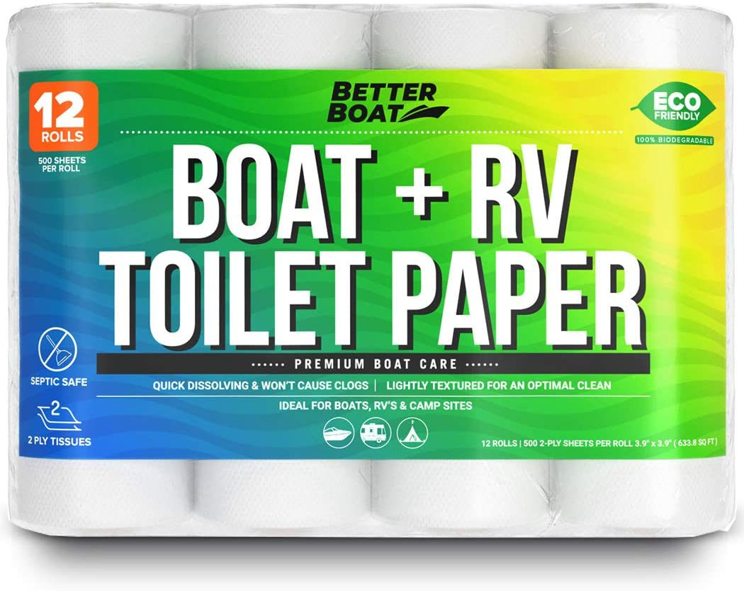 RV-friendly toilet paper rolls - rv must-have for newbies with an on-boar