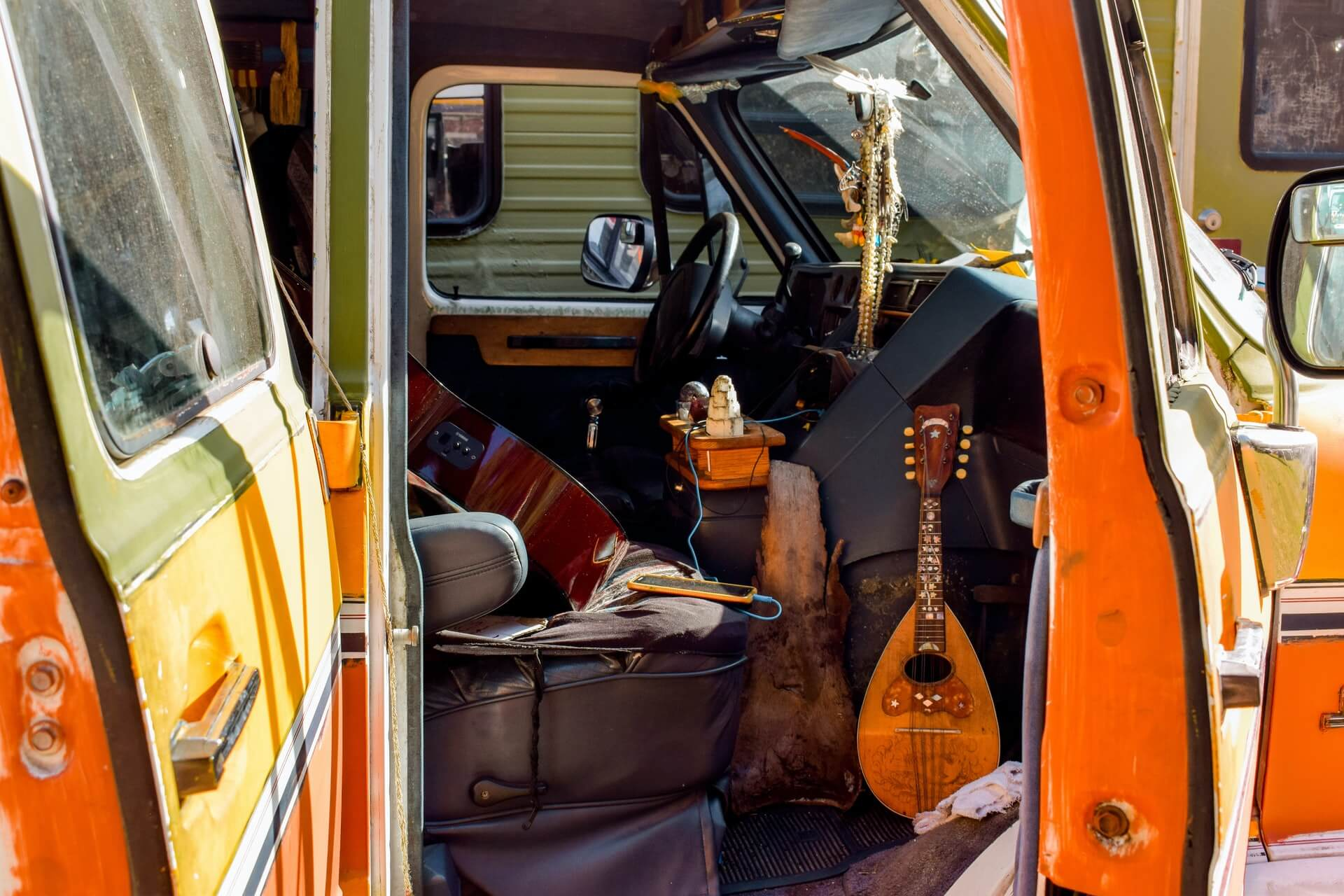 A packed motorhome filled with my favourite essential item for RV camping - instruments
