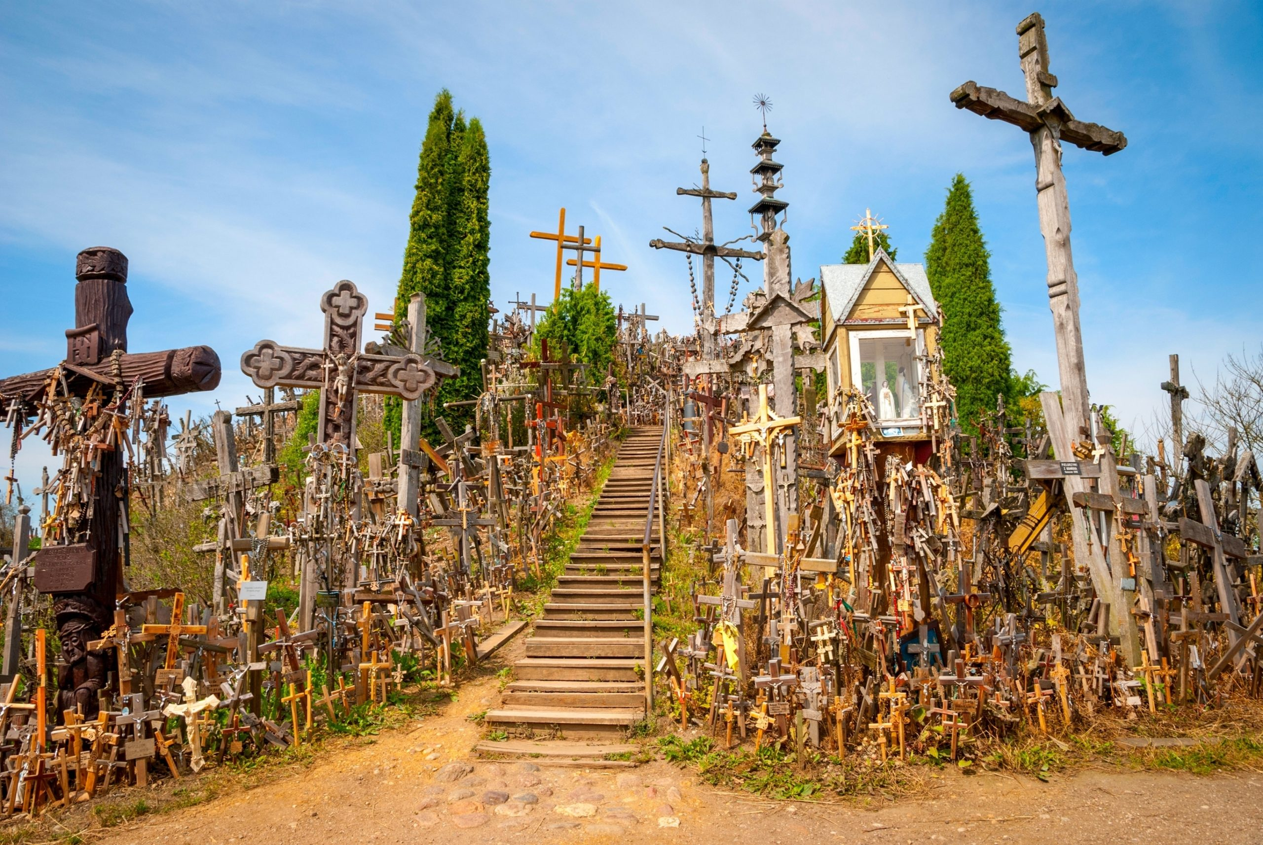 Hill of Crosses, Lithuania. From Shutterstock - By Ana Flasker