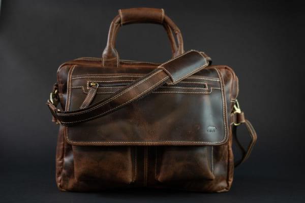 Kodiak Buffalo Leather Pilot Bag