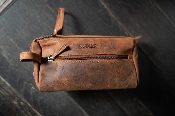 Kodiak Leather Toiletry Bag