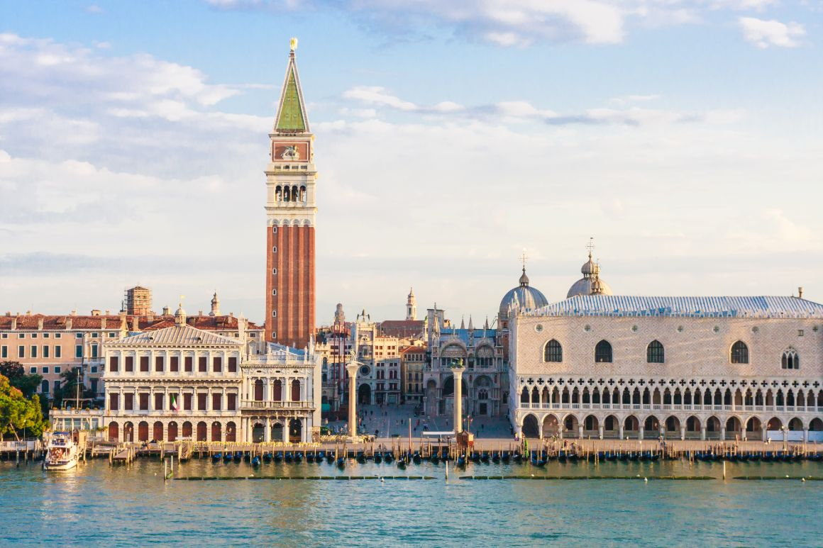 St Mark's Campanile, the famous bell tower in Venice