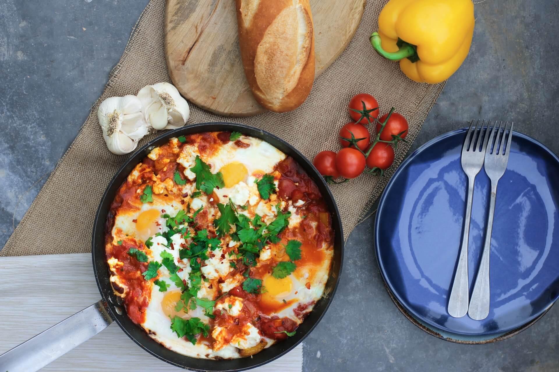 A classic Israeli breakfast food - shakshuka (shakshouka)