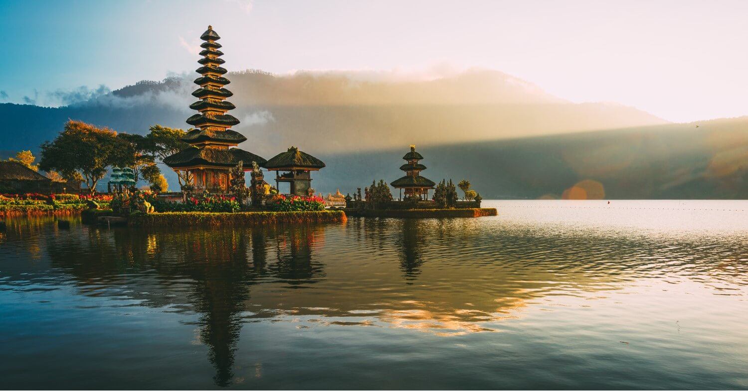 A beautiful temple attraction in Bali - destination preparing for travel again in 2021