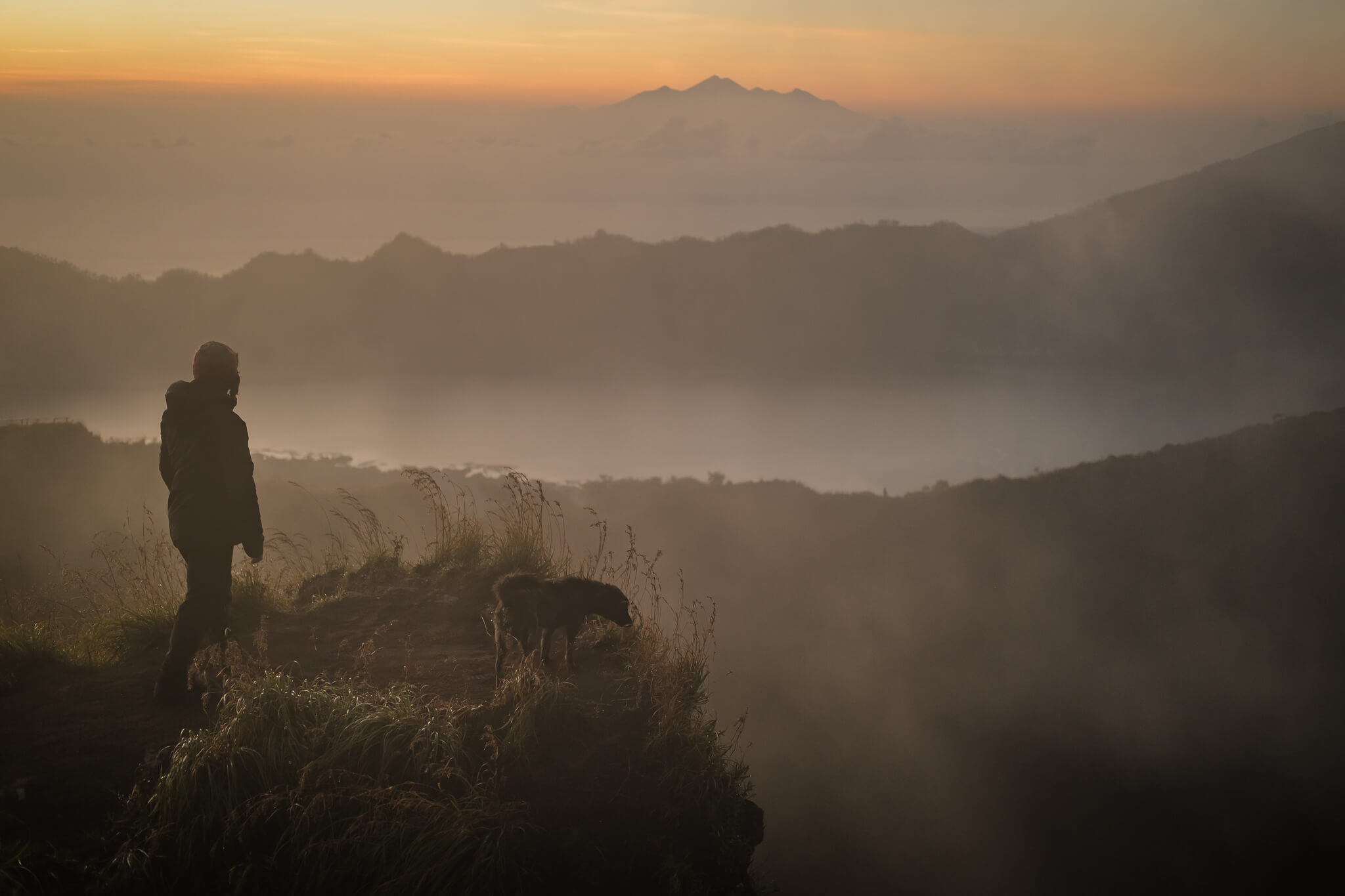 Will Hatton at the summit of Mount Batur contemplating his upcoming travels in 2021
