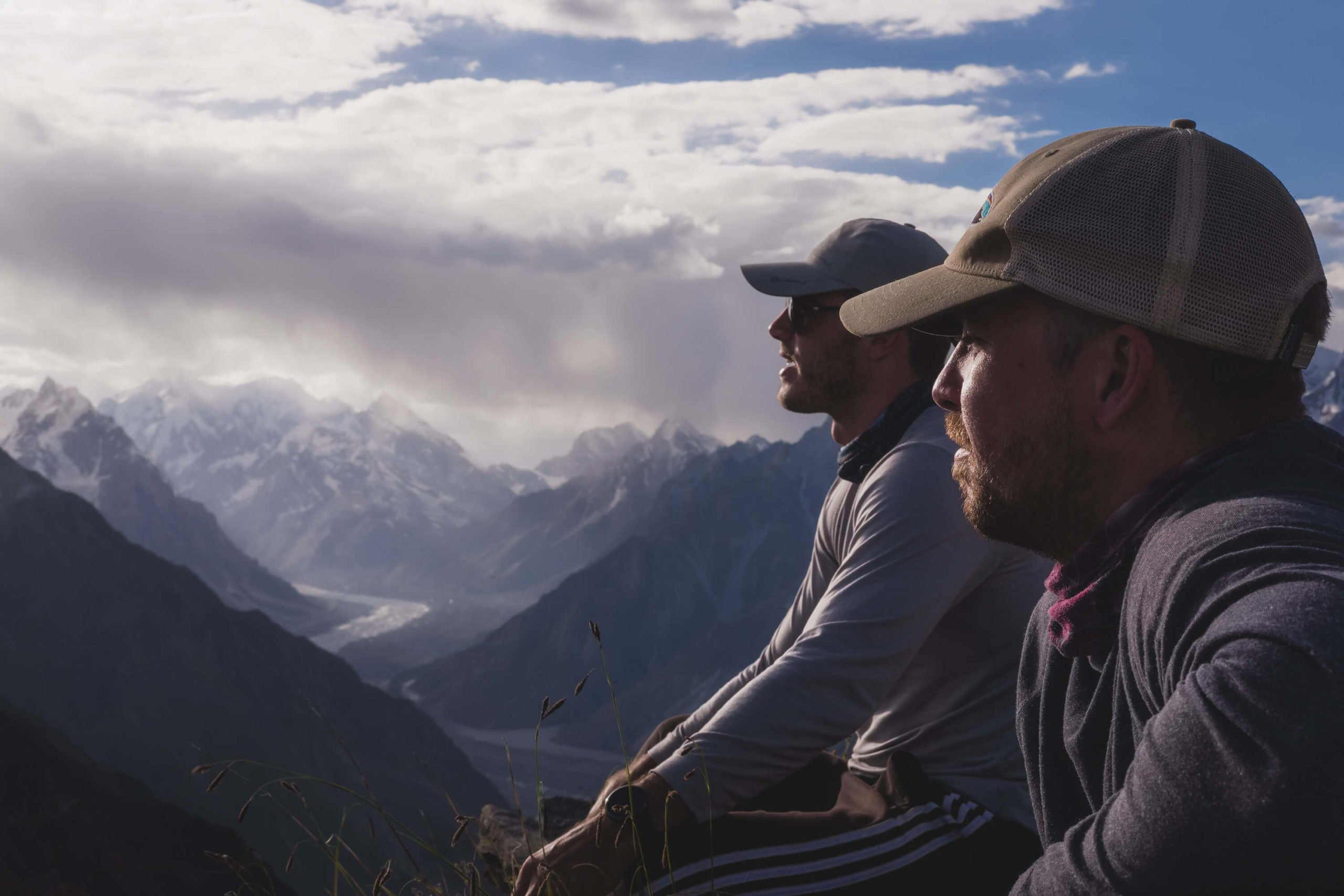 Will Hatton contemplating the reasons to travel again in 2021 at a viewpoint in the Karakoram mountains