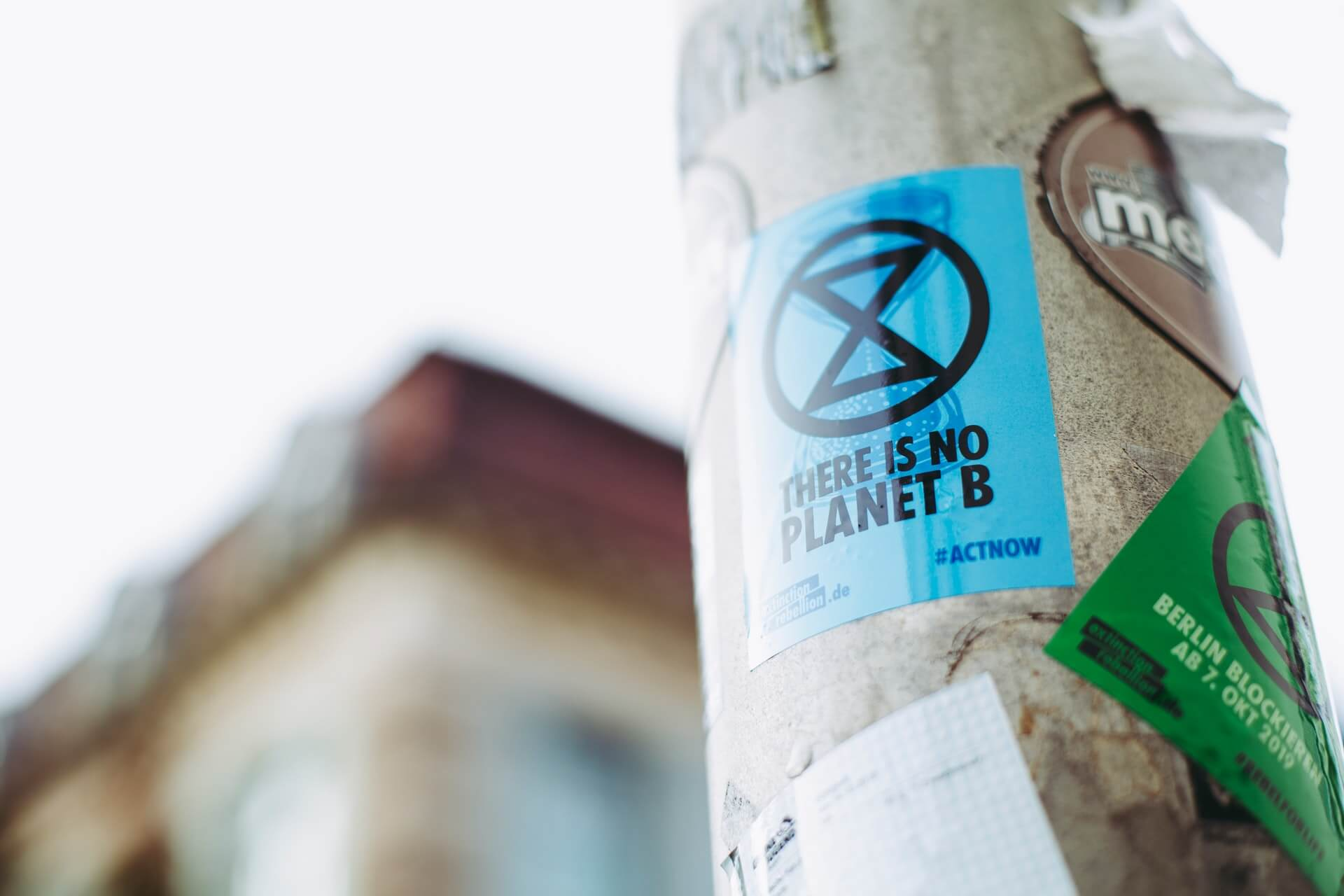 """A """"There Is No Planet B"""" sign at a political demonstration in Germany"""
