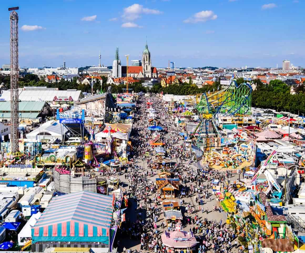 Munich oktoberfest in germany