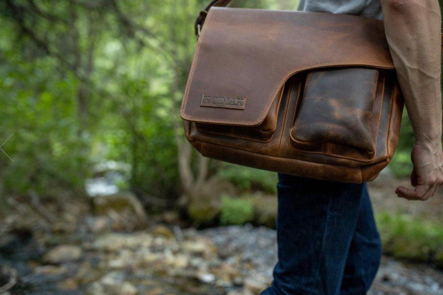 kodiak leather messenger bag review