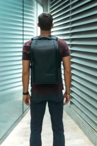 black travel pack