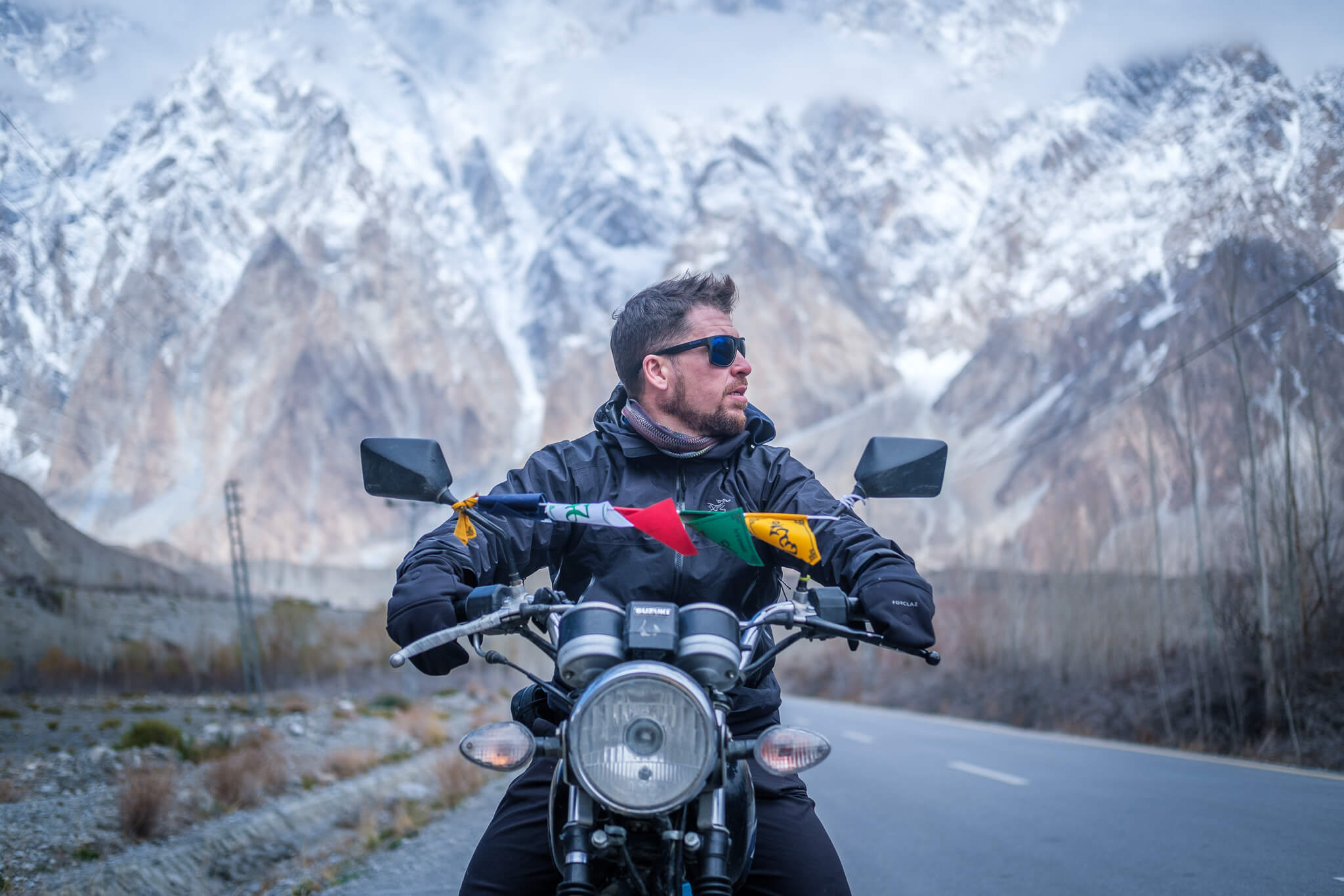 Will forgetting his travel problems while motorbiking in Pakistan