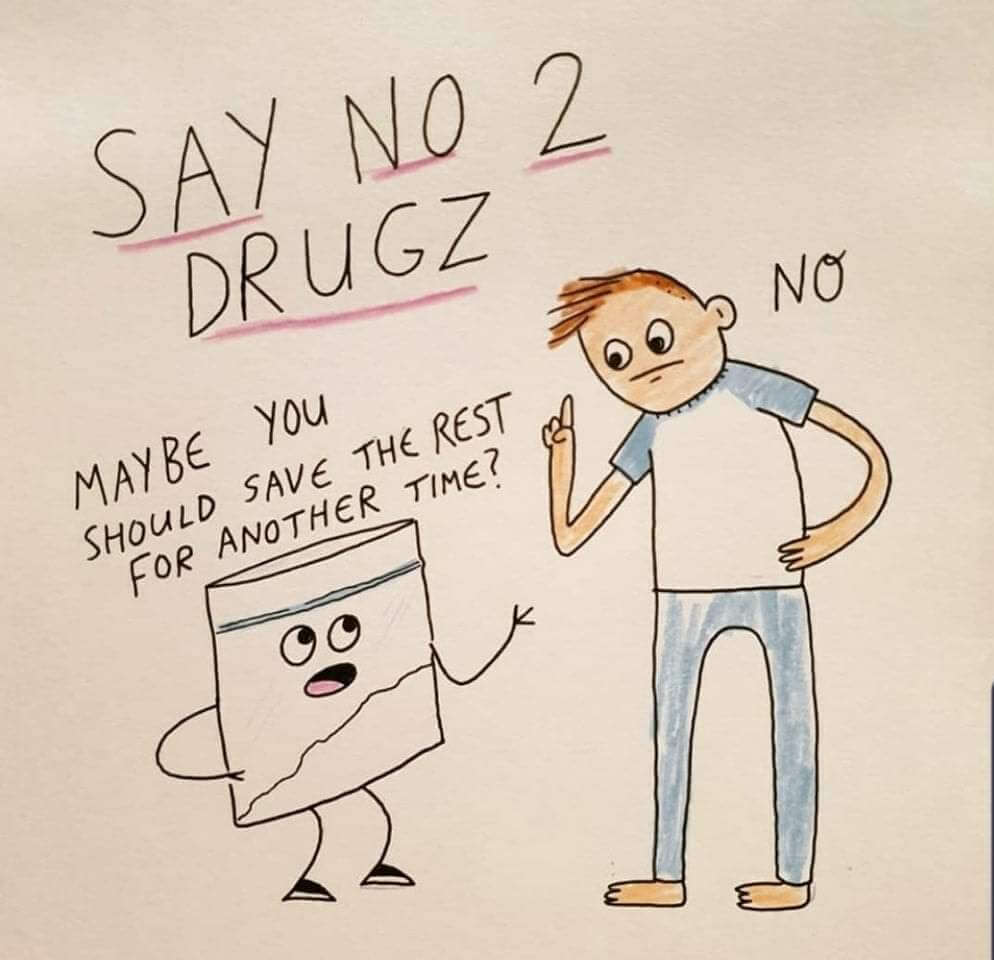 A meme representing the fun of the recreational drug tourism industry
