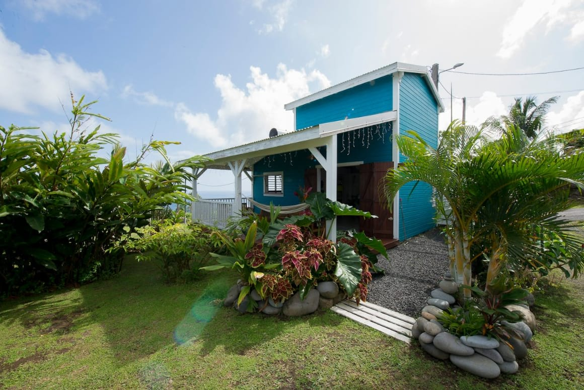 Eco-lodge with sea view near waterfalls rivers beaches