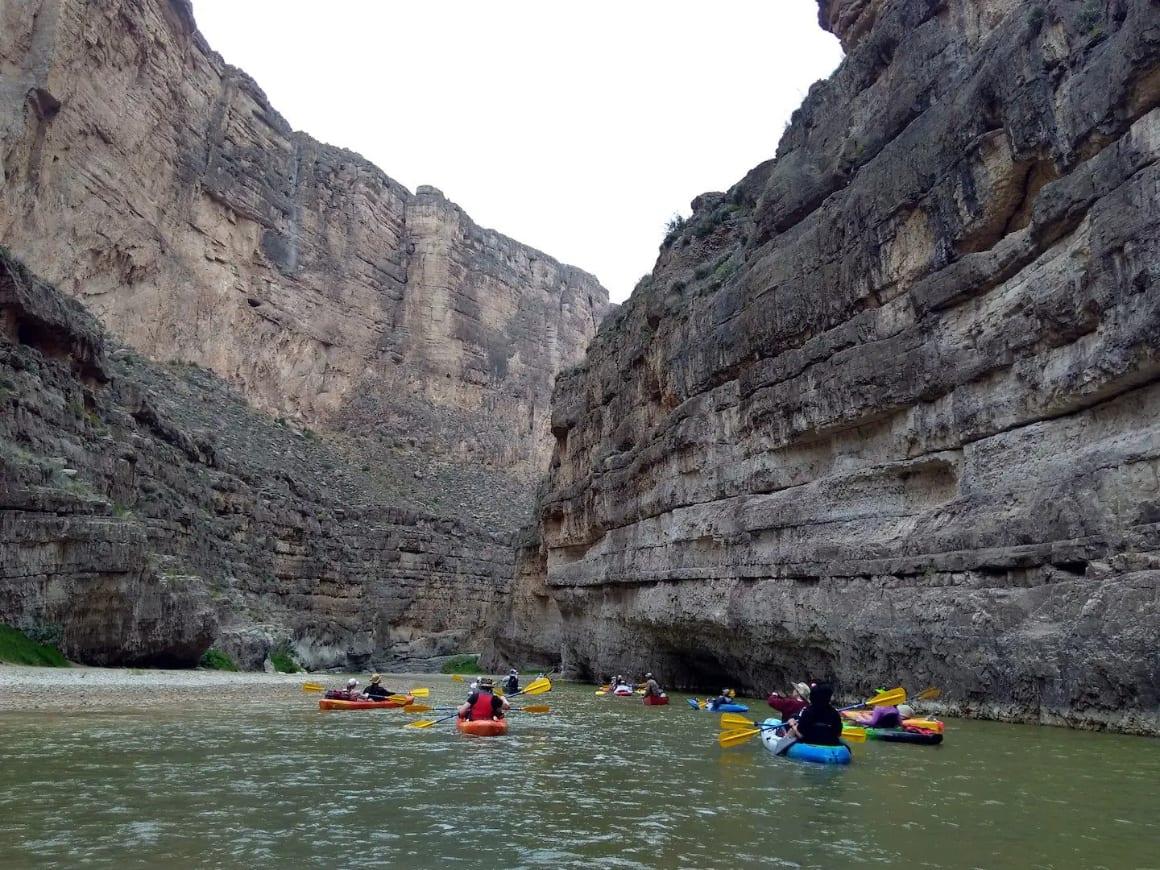 Kayak through Rio Grande